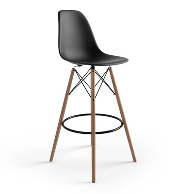 Alyssa 29.5 Bar Stool Finish: Black