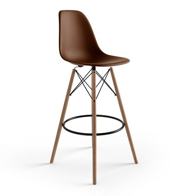 Alyssa 29.5 Bar Stool Finish: Brown