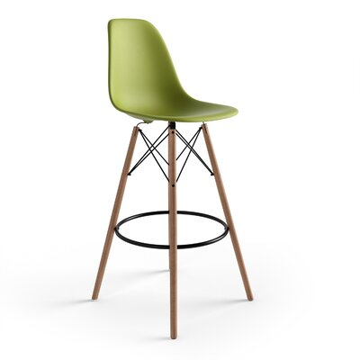 Alyssa 29.5 Bar Stool Finish: Green