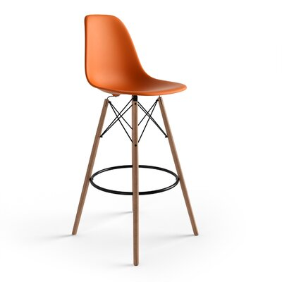 Alyssa 29.5 Bar Stool Finish: Orange
