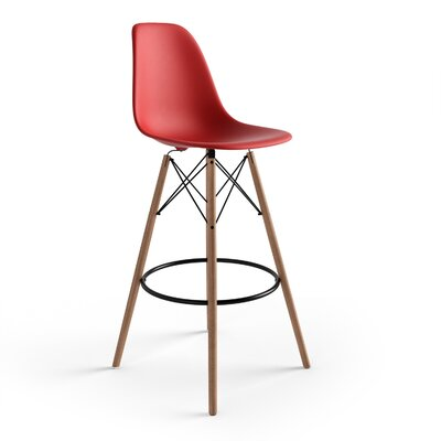 Alyssa 29.5 Bar Stool Finish: Red