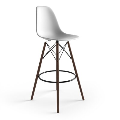 Alyssa 29.5 Bar Stool Finish: White/Walnut
