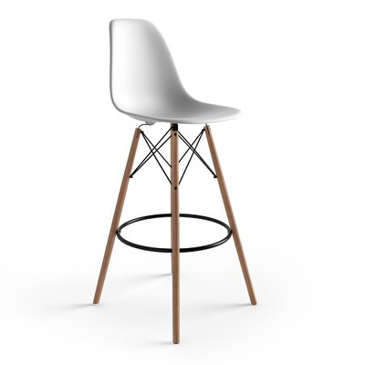 Alyssa 29.5 Bar Stool Finish: White