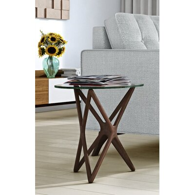 Starlight End Table Base Color: Walnut