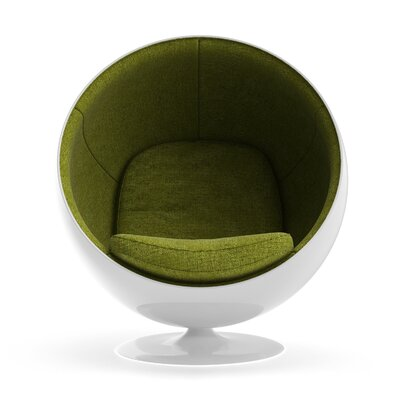 Ball Chair Upholstery: Green