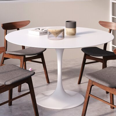 Tony Dining Table Top Finish: White Matte Lacquer