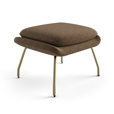 Arushi Ottoman Upholstery: Warm Taupe, Finish: Champagne Bronze