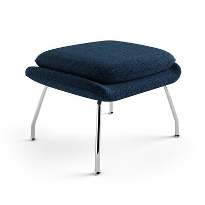 Arushi Ottoman Upholstery: Blue, Finish: Polished Stainless Steel