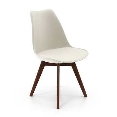 Regena Upholstered Dining Chair Upholstery Color: White