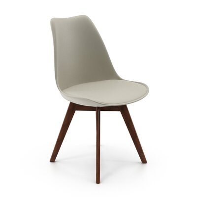 Regena Upholstered Dining Chair Upholstery Color: Gray