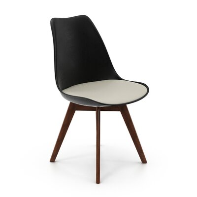 Regena Upholstered Dining Chair Upholstery Color: Black
