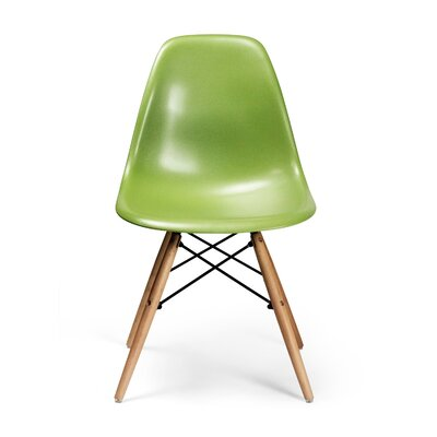 Brook Modern Solid Wood Dining Chair Color: Green