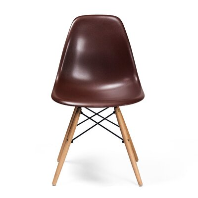 Brook Modern Solid Wood Dining Chair Color: Brown
