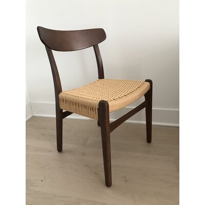 Berke Solid Wood Dining Chair Color: Walnut
