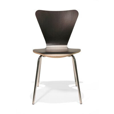 Credit for Side Chair (Set of 2) Finish: Black...