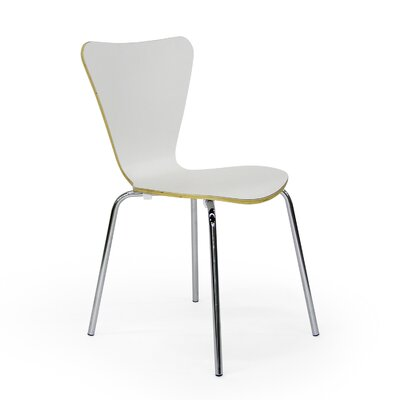 Credit for Side Chair (Set of 2) Finish: White...