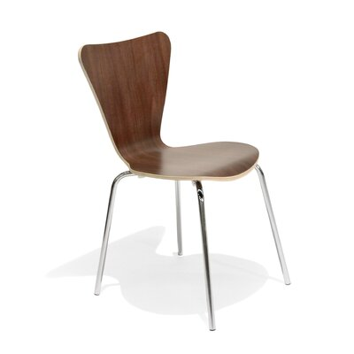 No credit check financing Side Chair (Set of 2) Finish: Walnu...