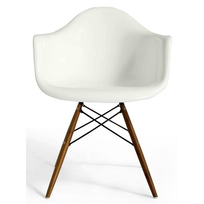 Marcella Arm Chair Color: White Gloss