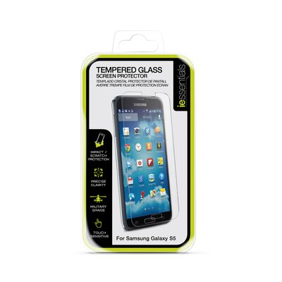 iessentials Samsung Galaxy S5 Tempered Glass Screen Protection IE-SG5-SCTG