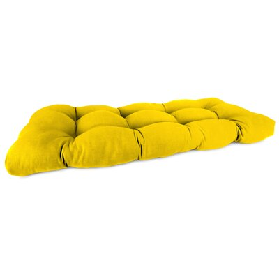 Teneka Outdoor Bench Cushion Fabric: Veranda Lemon