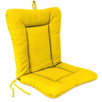 Outdoor Dining Chair Cushion Fabric: Veranda Lemon