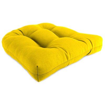 Taber Outdoor Rocking Chair Cushion Fabric: Veranda Lemon