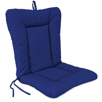 Outdoor Dining Chair Cushion Fabric: Veranda Cobalt