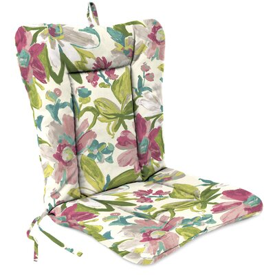 Outdoor Adirondack Chair Cushion Fabric: Elberta White