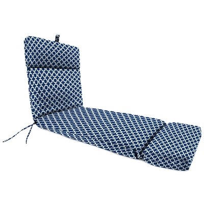 Outdoor Chaise Lounge Cushion Fabric: Hockley Navy