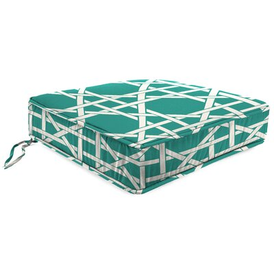 Outdoor Lounge Chair Cushion Fabric: Kane Aqua