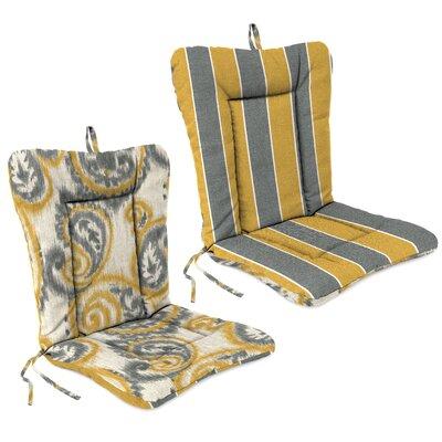 Outdoor Adirondack Chair Cushion Fabric: Wickenburg Stripe Patina / Sorista Patina