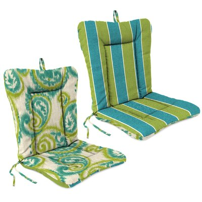 Outdoor Adirondack Chair Cushion Fabric: Wickenburg Teal / Sorista Teal