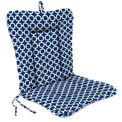 Outdoor Adirondack Chair Cushion Fabric: Hockley Navy