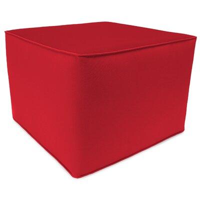 Square Pouf Ottoman Upholstery: Jockey Red