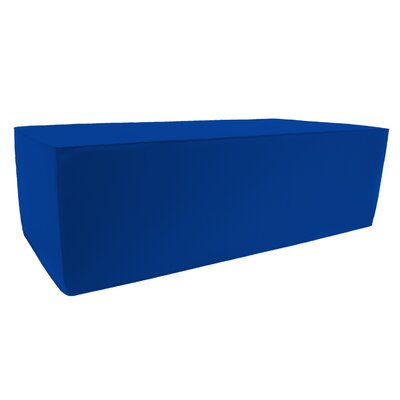 Rectangular Double Pouf Ottoman Upholstery: Pacific Blue