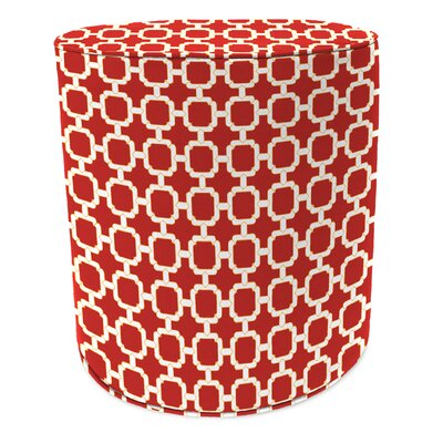 Pouf Ottoman Upholstery: Hockley Red