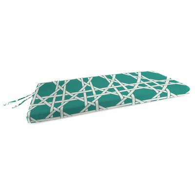 Outdoor Bench Cushion Fabric: Kane Aqua