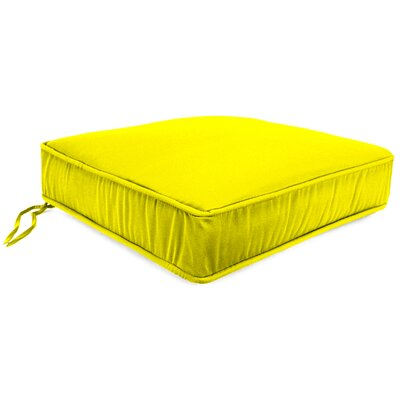 Outdoor Lounge Chair Cushion Fabric: Fresco Yellow