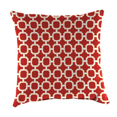Indoor/Outdoor Throw Pillow Farbic: Hockley Red
