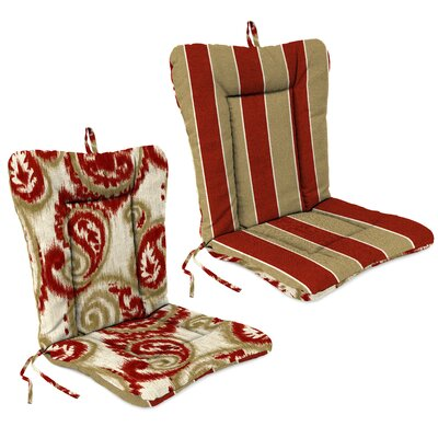 Outdoor Adirondack Chair Cushion Fabric: Wickenburg Cherry  /Sorista Cherry
