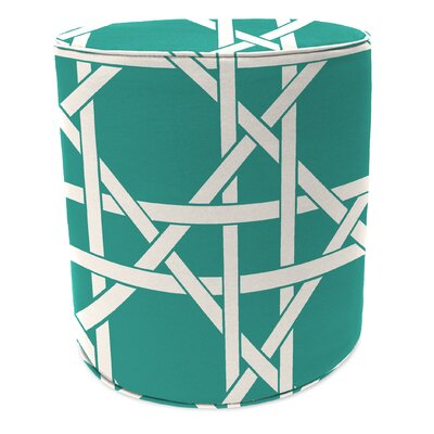 Pouf Ottoman Upholstery: Kane Aqua