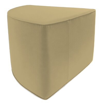 Indoor/Outdoor Corner Pouf Ottoman Upholstery: Heather Beige
