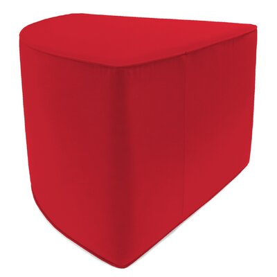 Indoor/Outdoor Corner Pouf Ottoman Upholstery: Jockey Red