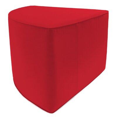 Corner Pouf Upholstery: Jockey Red