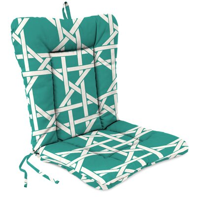 Outdoor Adirondack Chair Cushion Fabric: Kane Aqua