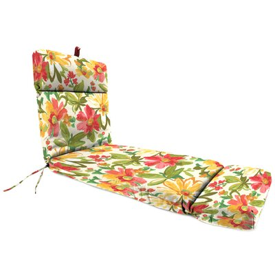 Universal Outdoor Chaise Lounge Cushion Fabric: Elberta Sunbright