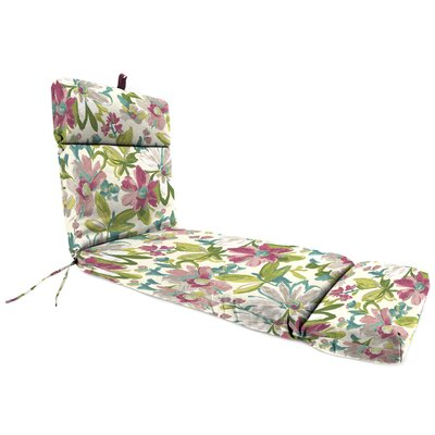 Universal Outdoor Chaise Lounge Cushion Fabric: Elberta White