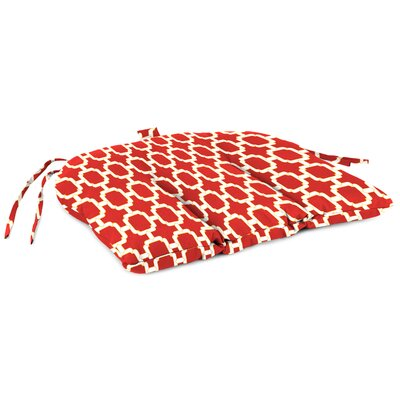 Outdoor Adirondack Chair Cushion Fabric: Hockley Red