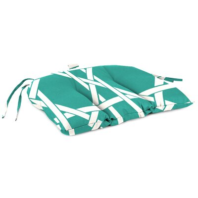 Outdoor Adirondack Chair Cushion Fabric: Kane Aqua