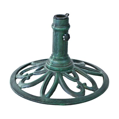 Hathaway Cast Iron Umbrella Base Finish: Verde